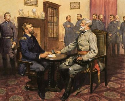 Image result for lee surrenders to grant, art, photos